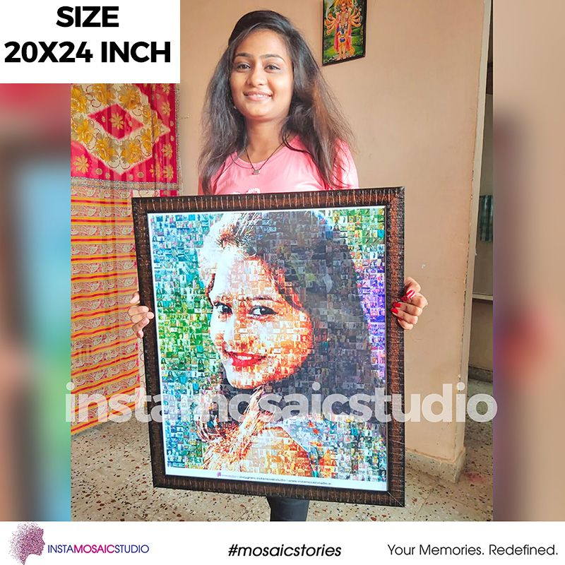 20x24 Inch Personalized Mosaic Poster