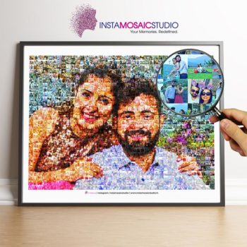 Buy Personalized Mosaic Poster | Personalized Gifts | Birthday Gift For Husband | Birthday Gifts For Boys | Wedding Gifts | Mosaic Photo Frame Online | Gifts For Couples Online on InstaMosaicStudio